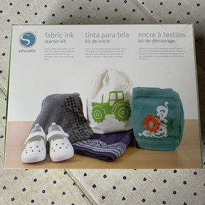 Silhouette Fabric Ink Starter Kit, NWT